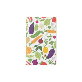 Food on a white background pocket moleskine notebook