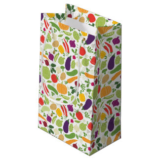 Food on a white background small gift bag