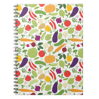 Food on a white background spiral notebook