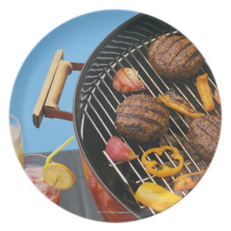 Food on grill plate