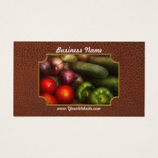 Food - Onions, Tomatoes, Peppers, and Cucumbers Business Card