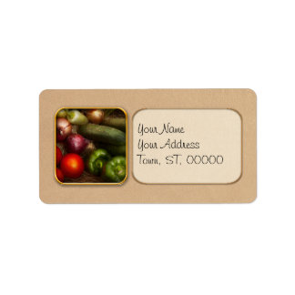 Food - Onions, Tomatoes, Peppers, and Cucumbers Address Label