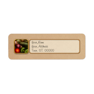 Food - Onions, Tomatoes, Peppers, and Cucumbers Return Address Label