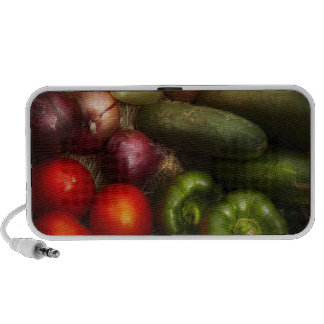 Food - Onions Tomatoes Peppers and Cucumbers iPhone Speakers