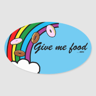 Food Oval Sticker