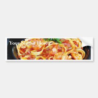Food Pasta Shrimp Bumper Sticker
