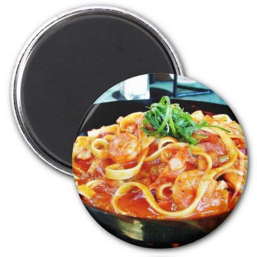 Food Pasta Shrimp Fridge Magnets