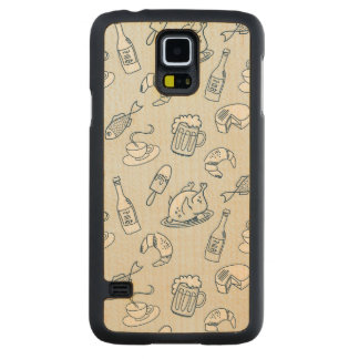 Food Pattern 2 Carved Maple Galaxy S5 Case