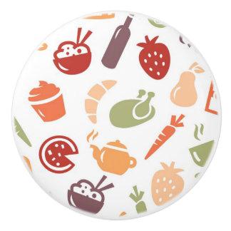 Food Pattern 2 Ceramic Knob
