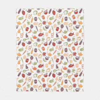Food Pattern 2 Fleece Blanket