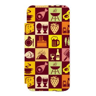 Food Pattern 2 Incipio Watson™ iPhone 5 Wallet Case