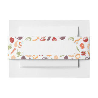 Food Pattern 2 Invitation Belly Band