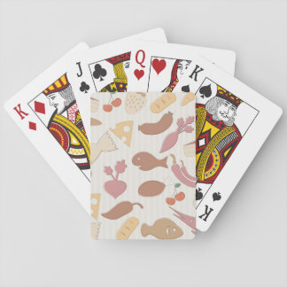 Food Pattern 2 Playing Cards