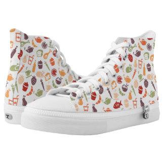 Food Pattern 2 Printed Shoes