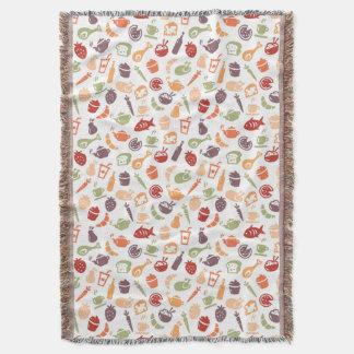 Food Pattern 2 Throw Blanket