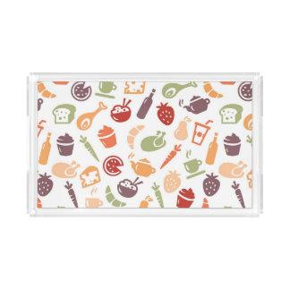 Food Pattern 3 Acrylic Tray