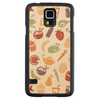 Food Pattern 3 Carved Maple Galaxy S5 Case