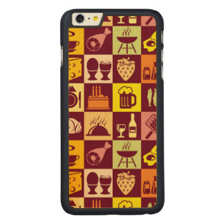 Food Pattern 3 Carved Maple iPhone 6 Plus Case