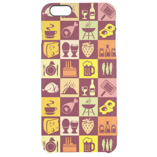 Food Pattern 3 Clear iPhone 6 Plus Case