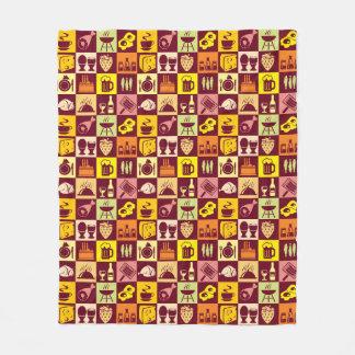Food Pattern 3 Fleece Blanket