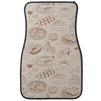 Food Pattern 3 Floor Mat