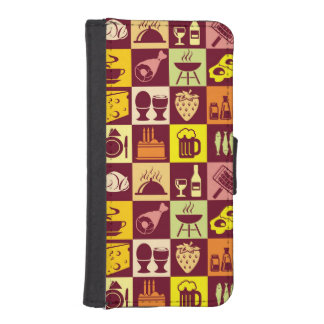Food Pattern 3 iPhone SE/5/5s Wallet Case