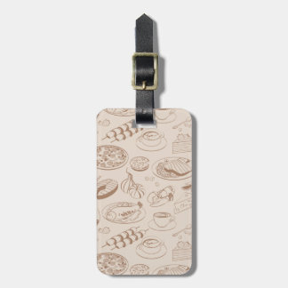 Food Pattern 3 Luggage Tag