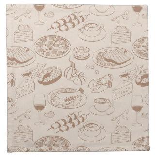 Food Pattern 3 Napkin