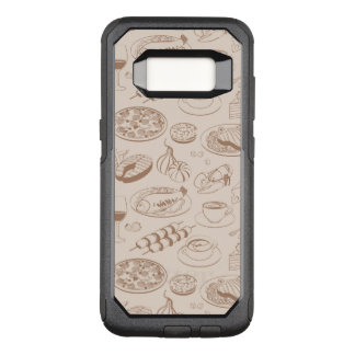 Food Pattern 3 OtterBox Commuter Samsung Galaxy S8 Case