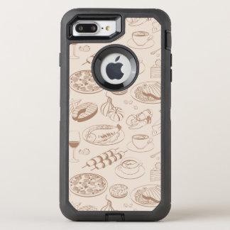 Food Pattern 3 OtterBox Defender iPhone 7 Plus Case