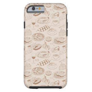 Food Pattern 3 Tough iPhone 6 Case
