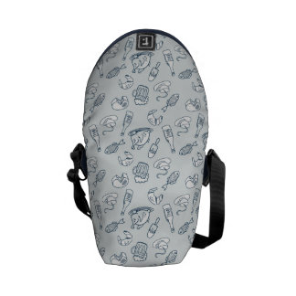 Food Pattern Courier Bag