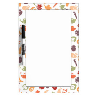 Food Pattern Dry-Erase Whiteboard