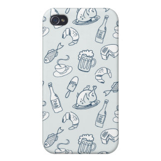 Food Pattern iPhone 4 Covers