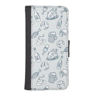 Food Pattern iPhone SE/5/5s Wallet Case