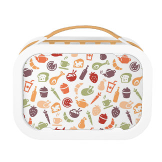Food Pattern Lunch Box