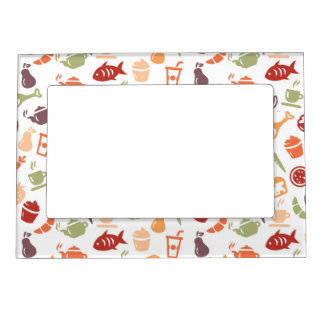 Food Pattern Magnetic Picture Frame