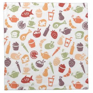 Food Pattern Napkin