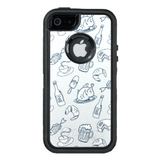 Food Pattern OtterBox Defender iPhone Case