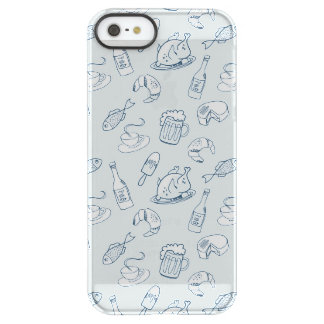 Food Pattern Permafrost® iPhone SE/5/5s Case