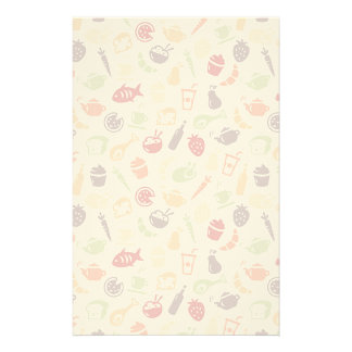 Food Pattern Personalized Stationery