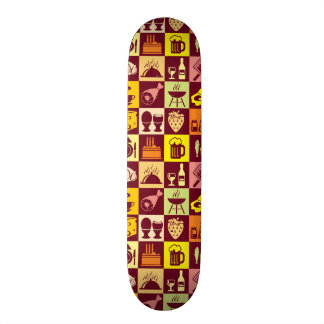 Food Pattern Skate Board Decks