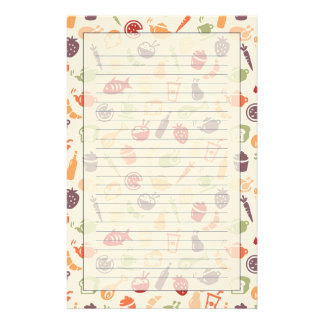 Food Pattern Stationery Design