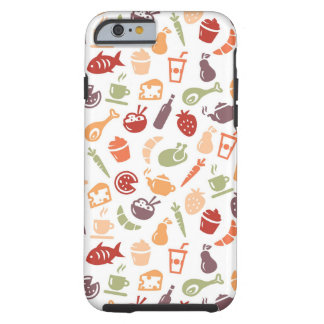 Food Pattern Tough iPhone 6 Case