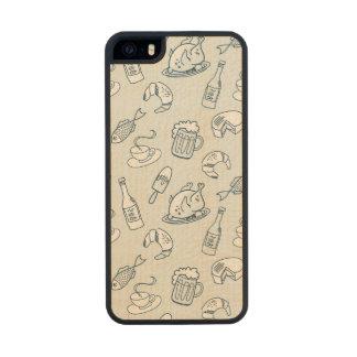 Food Pattern Wood iPhone SE/5/5s Case