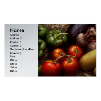 Food - Peppers, Tomatoes, Squash and Turnips Business Card Templates