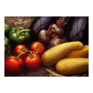 Food - Peppers Tomatoes Squash and Turnips Custom Invites