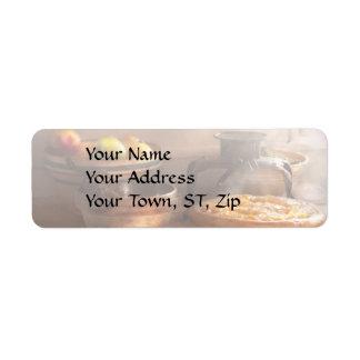 Food - Pie - Mama's peach pie Return Address Label