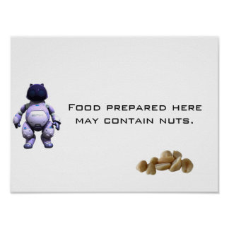 Food prepared here may contain nuts. poster