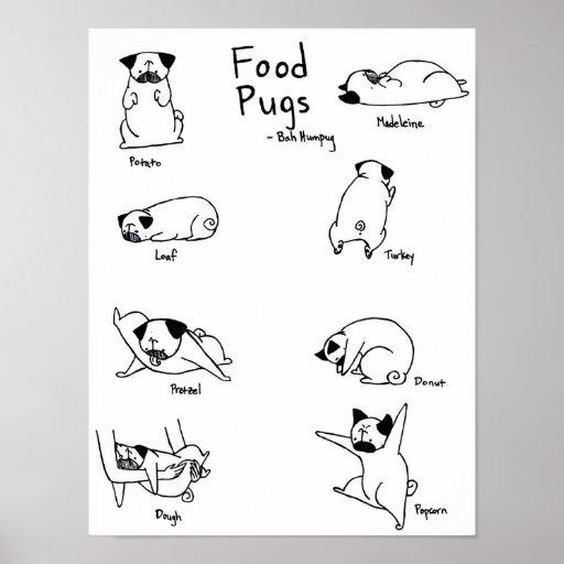 Food Pugs Poster